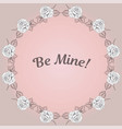 greeting card with round floral frame and vector image vector image