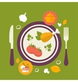 healthy food concept vintage style vector image