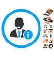 help desk manager icon with dating bonus vector image