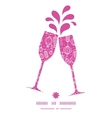holiday lanterns line art toasting wine glasses vector image vector image