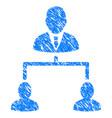 human hierarchy grunge icon vector image vector image