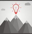 idea concept idea light bulb at the top of a vector image vector image
