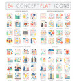 infographics concept icons of medicine health vector image vector image