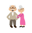 Isolated grandparents couple vector image