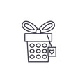 jewelery box line icon concept jewelery box vector image