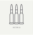 line flat military icon - ammunition ammo vector image vector image