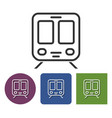 line icon of train in different variants vector image vector image