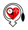 lowering blood pressure with heart shape vector image vector image