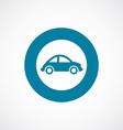mini car icon bold blue circle border vector image vector image