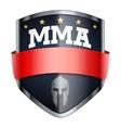 MMA Fights Shield badge vector image vector image