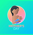 mothers day icon design vector image