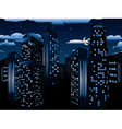 Night Cityscape Background vector image vector image