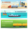 Oil Industry Banners Set vector image vector image