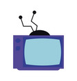 old television media pop art colors vector image