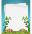 Paper design with bamboo in garden vector image vector image