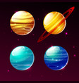 planets of solar system in space galaxy vector image