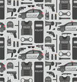 Police seamless pattern vector image vector image