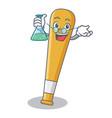 professor baseball bat character cartoon vector image vector image