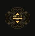 retro style logo vintage luxury minimal geometric vector image vector image