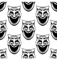 Seamless pattern with theater comedy masks vector image vector image