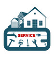 service and construction of the house vector image vector image