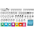 set fabric care or washing symbols or laundry s vector image