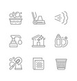 set line icons cleaning vector image vector image