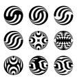 Set of monochrome black and white design elements vector image vector image