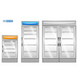 set realistic refrigerator isolated vector image vector image
