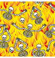 Sinners in fire hell seamless pattern dead in vector image vector image