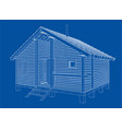sketch of small house rendering of 3d vector image vector image