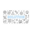 solution horizontal concept outline vector image