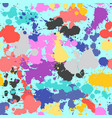 splash seamless pattern grunge colorful hand drawn vector image vector image