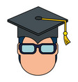 student graduated head avatar character vector image vector image