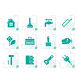 stylized construction and do it yourself icons vector image vector image