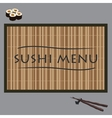sushi on bamboo vector image vector image