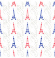 the eiffel tower seamless pattern vector image vector image