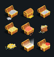 treasures signs 3d icon set isometric view vector image