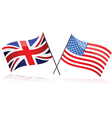 United Kingdom and United States vector image vector image