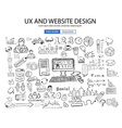 UX Website Design concept with Doodle design style vector image vector image