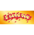 Valentines Day card header vector image vector image