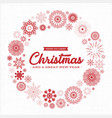 vintage merry christmas postcard vector image vector image