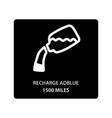 warning dashboard car icon recharge adblue 1500 vector image vector image