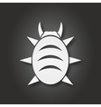 White bug icon vector image
