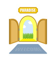 Gates of paradise on a white background Entrance vector image