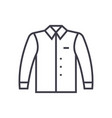 shirt line icon sign on vector image