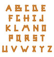 wooden alphabet set with all letters vector image