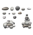 stone pebbles set isolated vector image