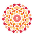abstract circle mandala vector image vector image