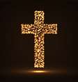 abstract cross of glowing particles symbol vector image vector image